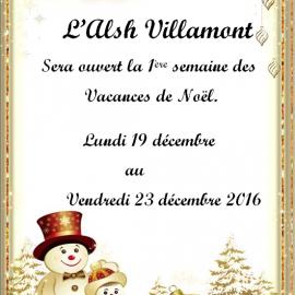 Programme des vacances de Noël 2016