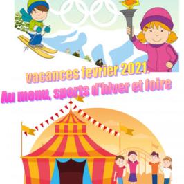 PROGRAMMES  VACANCES D'HIVER  2021